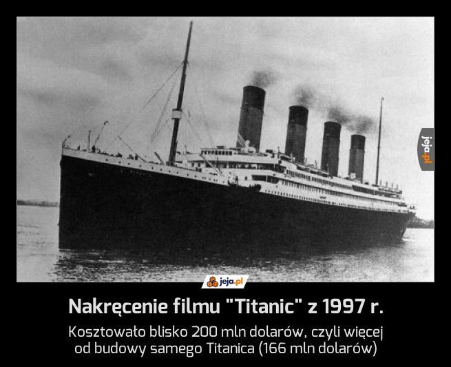 "Nakręcenie filmu ""Titanic"" z 1997 r."