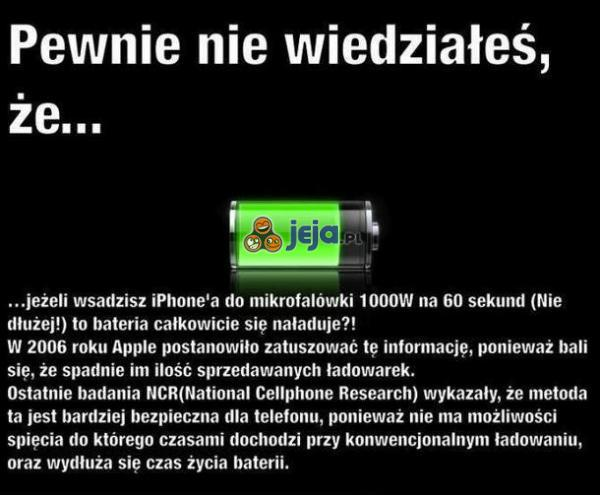 IPhone w mikrofalówce?
