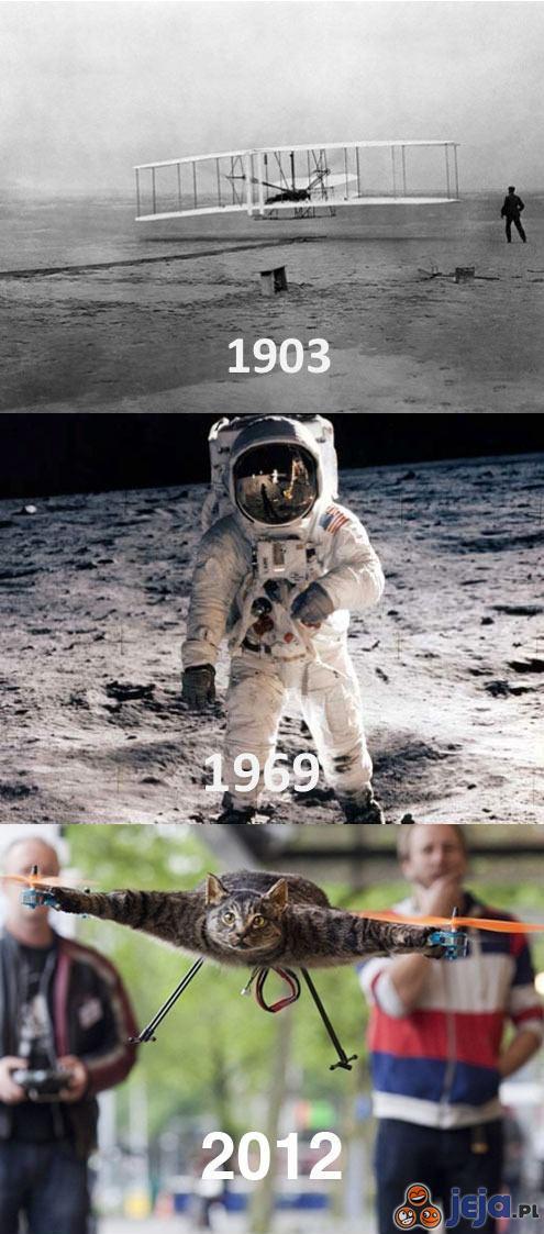 Kamienie milowe w dziedzinie awiacji i kosmonautyki
