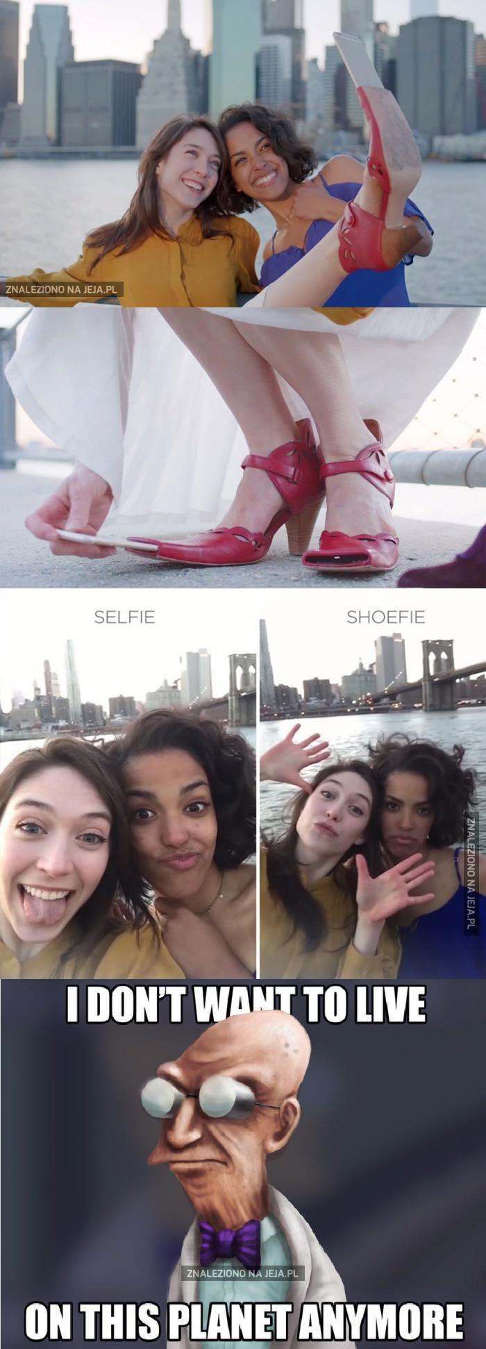 But first, let me take a shoelfie!