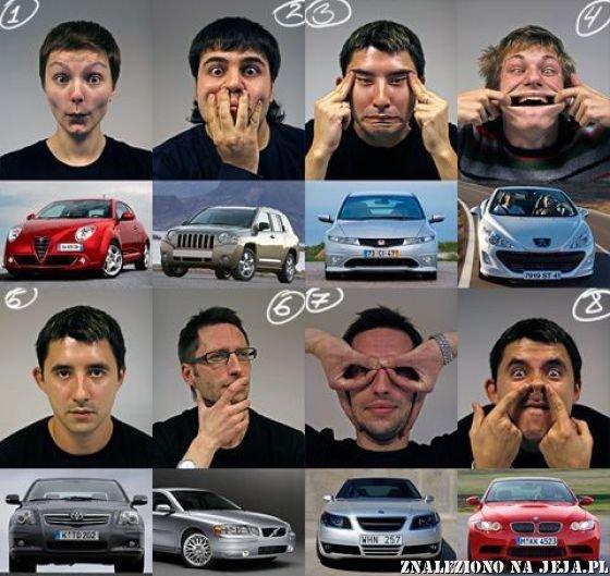 Twarze popularnych samochodów