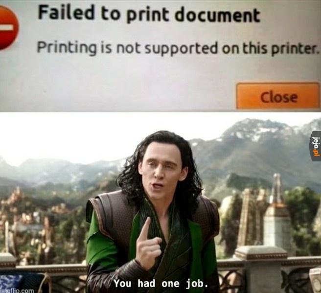 Drukarka, która nie umie drukować