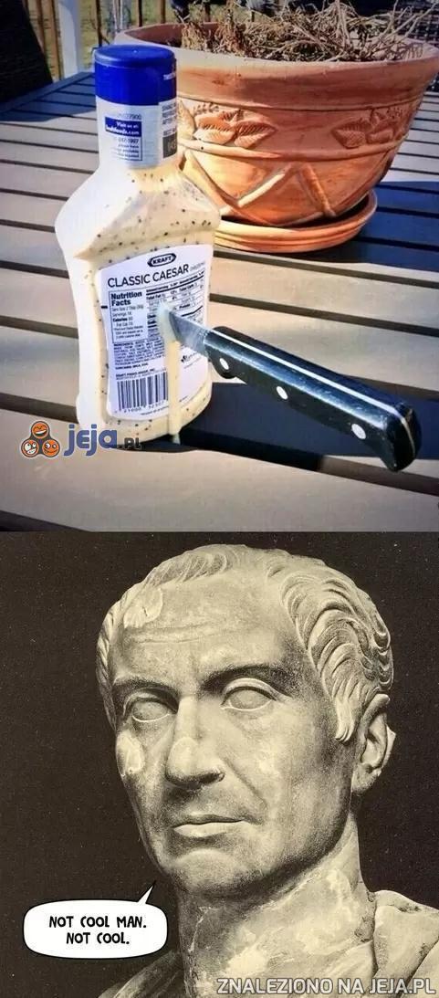 Cezar został dźgnięty