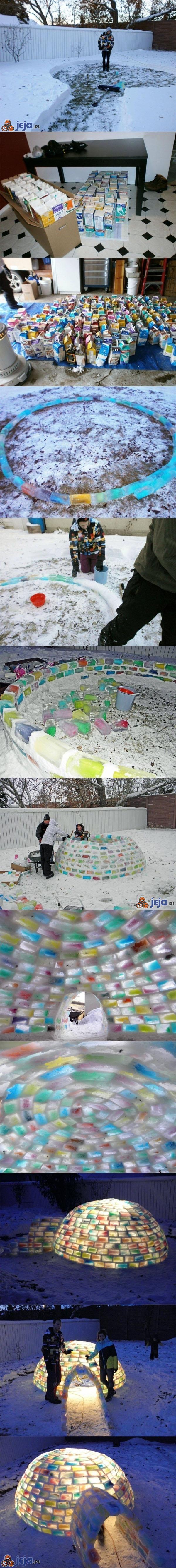 Wielokolorowe igloo