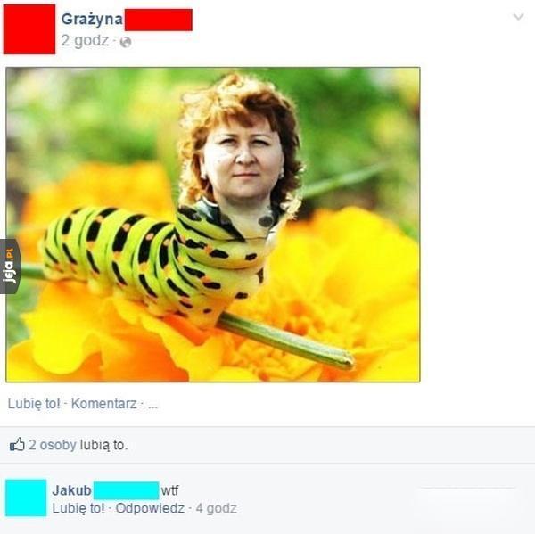 Może zmienia się w motyla?