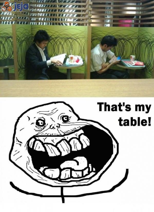 To mój stolik!