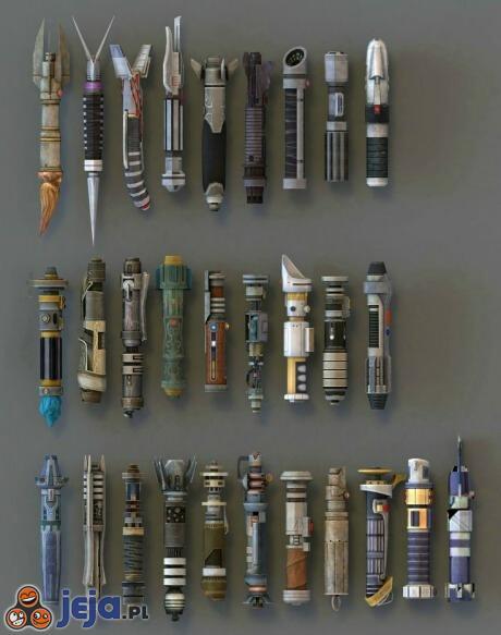 Kolekcja mieczy świetlnych