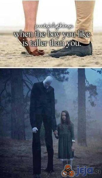 Gdy chłopak jest wyższy