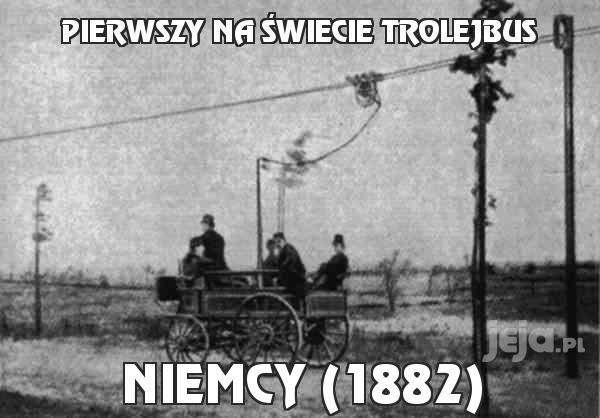 Pierwszy na świecie trolejbus