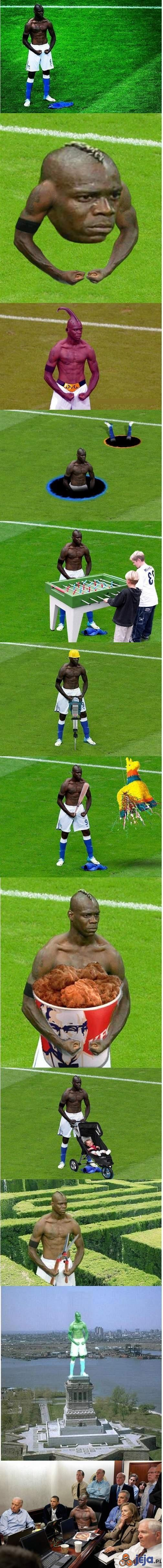 Mario Balotelli vs Photoshop