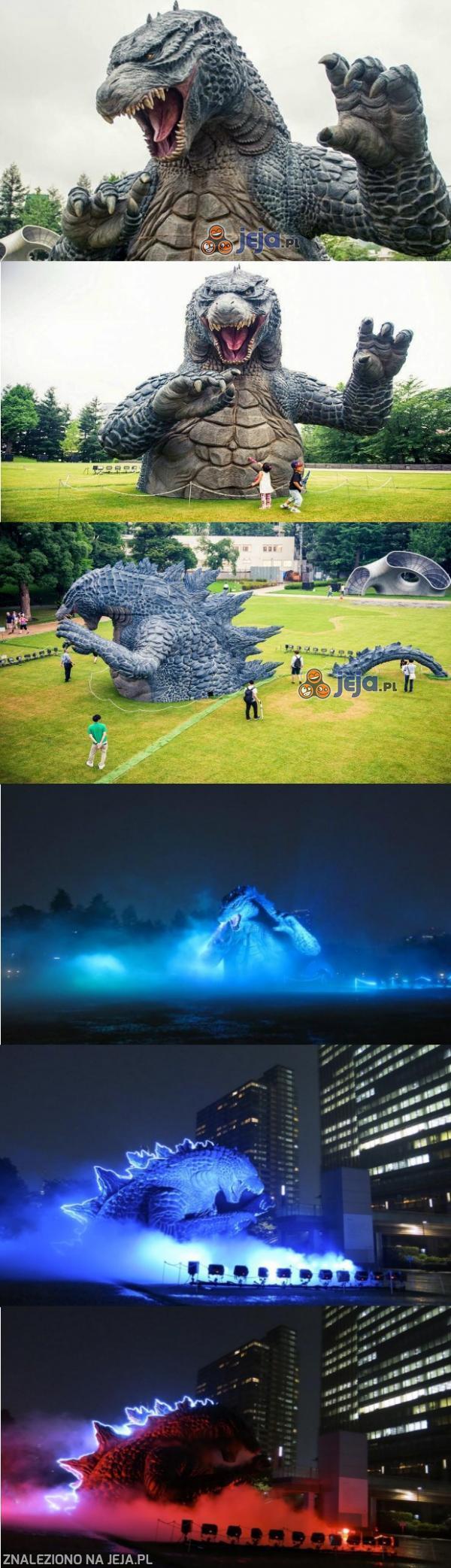 Spektakularna figura Godzilli stanęła w centrum Tokio