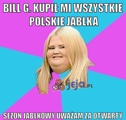 Jedyna konsumentka jabłek w Polsce