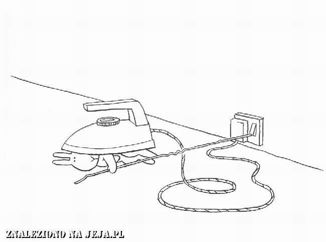 Samobójstwa zajączka: Zajączek i żelazko