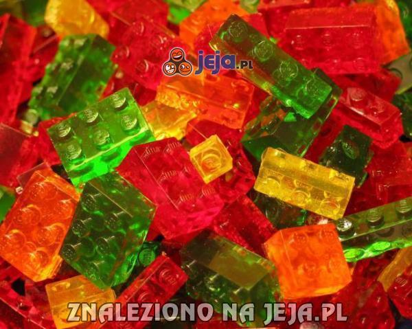 Żelki w kształcie klocków Lego