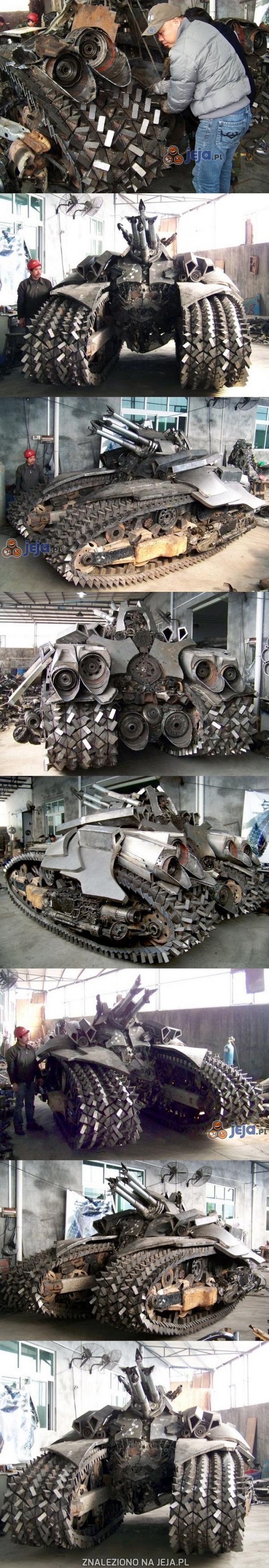 Czołg z Transformersów wykonany przez fana