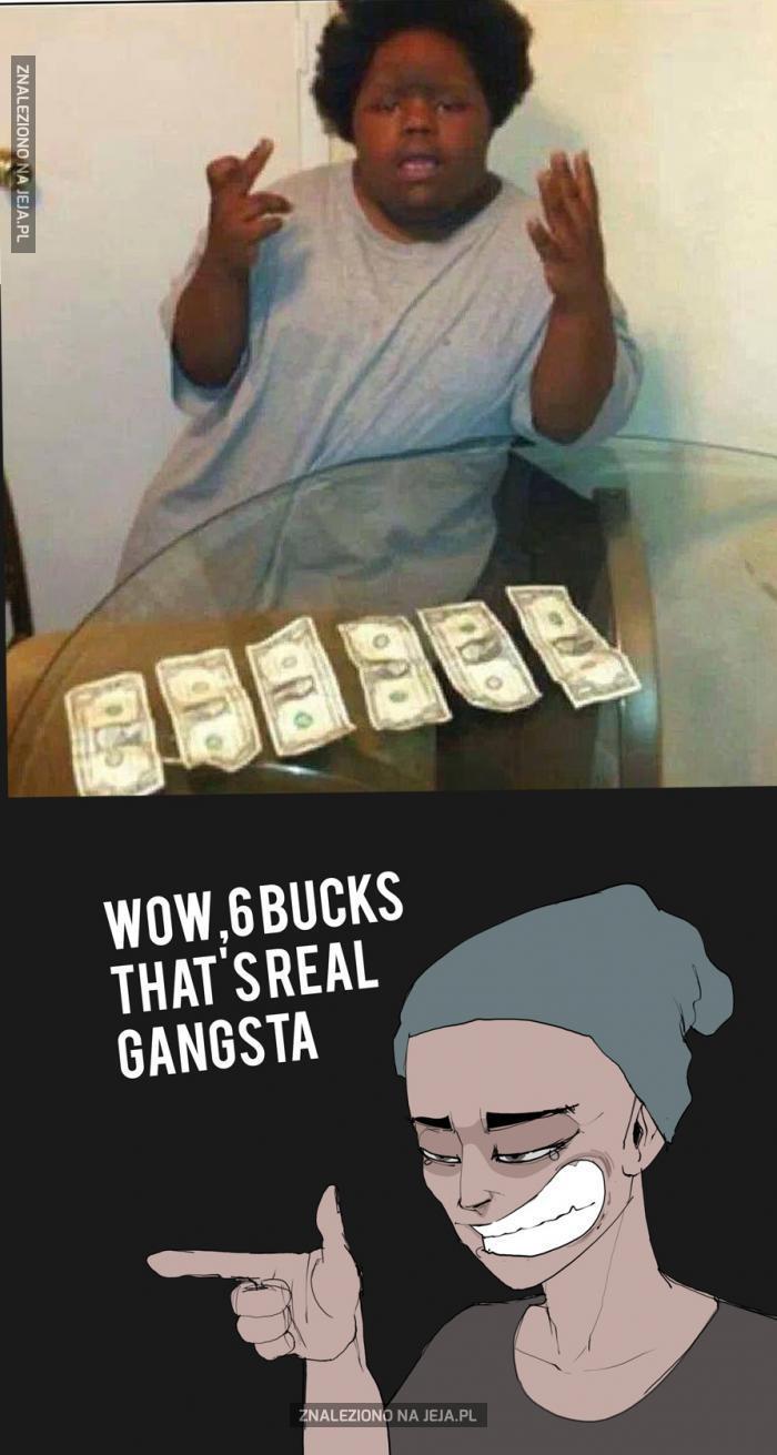 Prawdziwy gangster szasta kasą