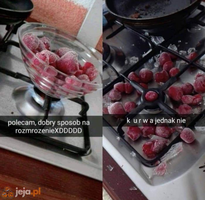 Jak rozmrozić owoce