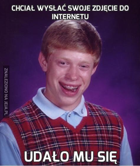 Chciał wysłać swoje zdjęcie do Internetu