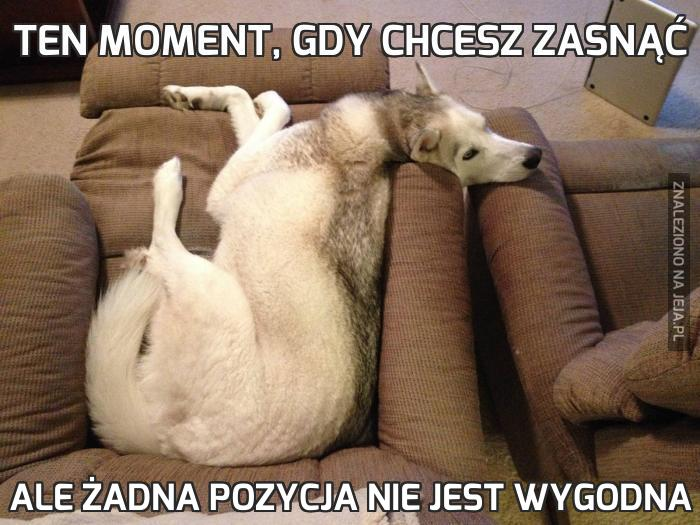 Ten moment, gdy chcesz zasnąć