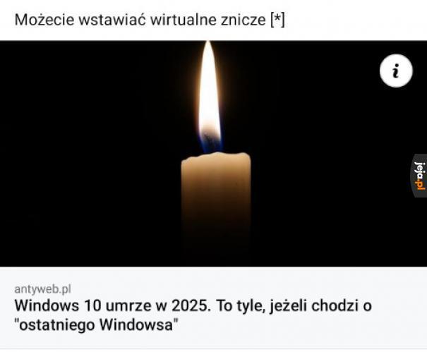Naciśnij F dla Windowsa 10