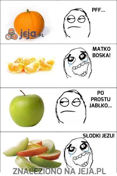 Jadłbym więcej owoców, gdyby ktoś mi je kroił...