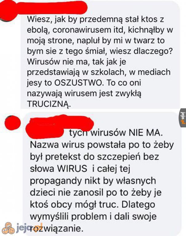 Uwaga, epidemia koronawirusa odwołana, ponieważ wirusy nie istnieją