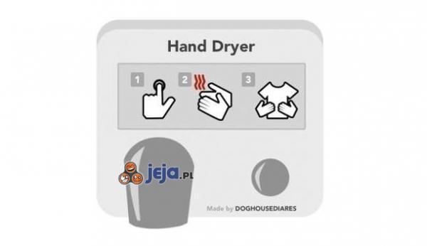Instrukcja do suszarki do rąk