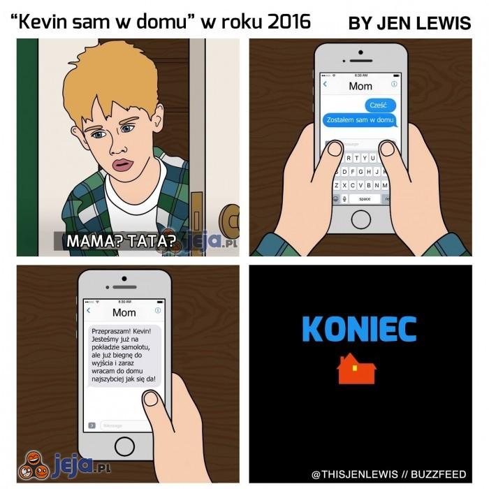 Kevin sam w domu w roku 2016