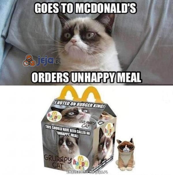 Zrzędliwy kot w McDonald's