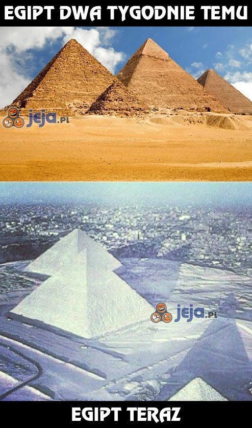 Śnieg w Egipcie