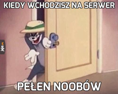 Kiedy wchodzisz na serwer