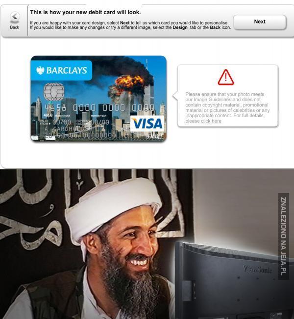 Bombowa karta kredytowa