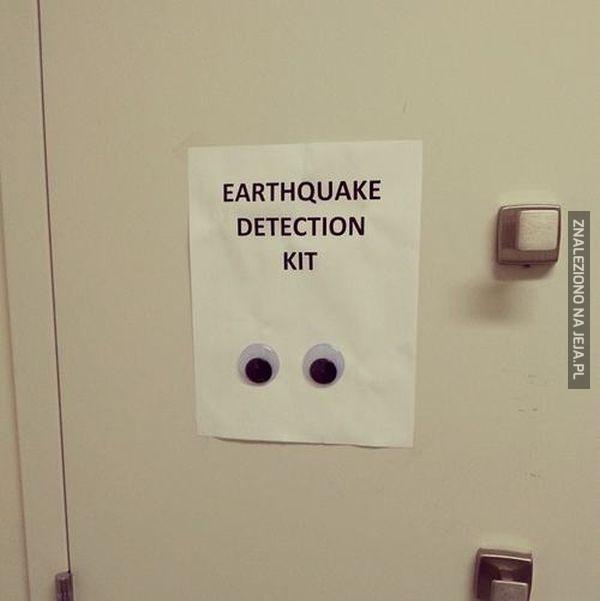 Zestaw wykrywania trzęsień ziemi