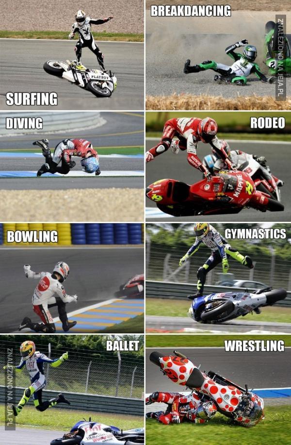 Akrobacje na motorze