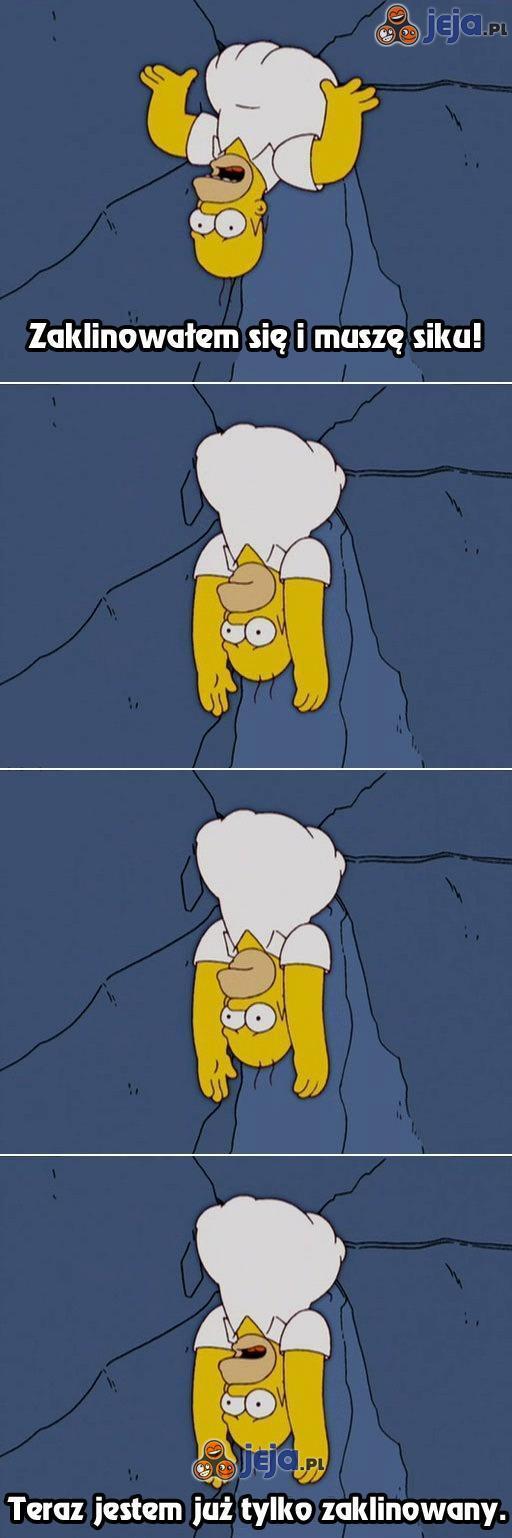 Homer utknął w dziurze