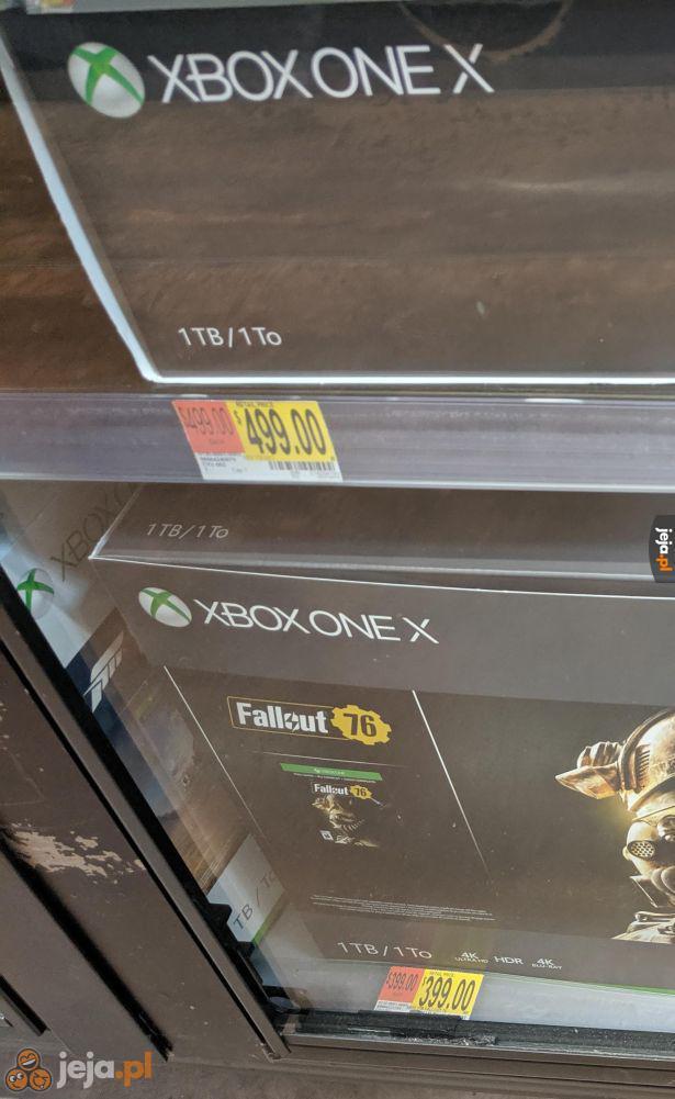 Fallout 76 w zestawie z konsolą obniża cenę konsoli