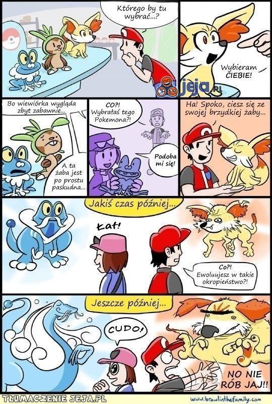 Wybierz mądrze swojego Pokemona