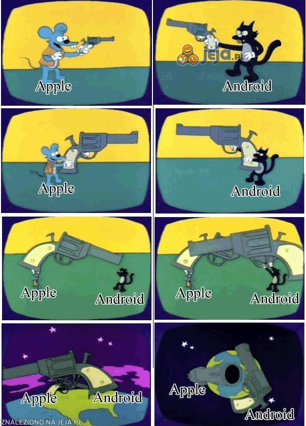 Wojna Apple z Androidem