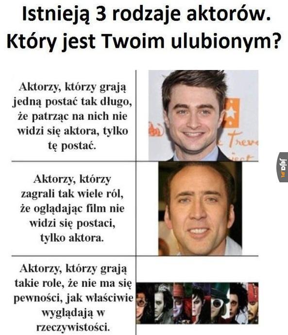 Rodzaje aktorów