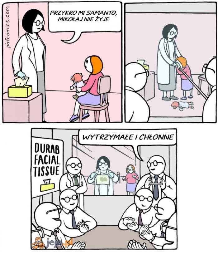 Jak testują chusteczki