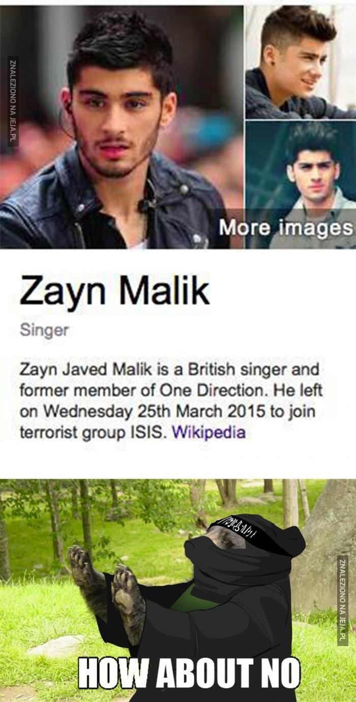 Piosenkarz z One Direction w ISIS