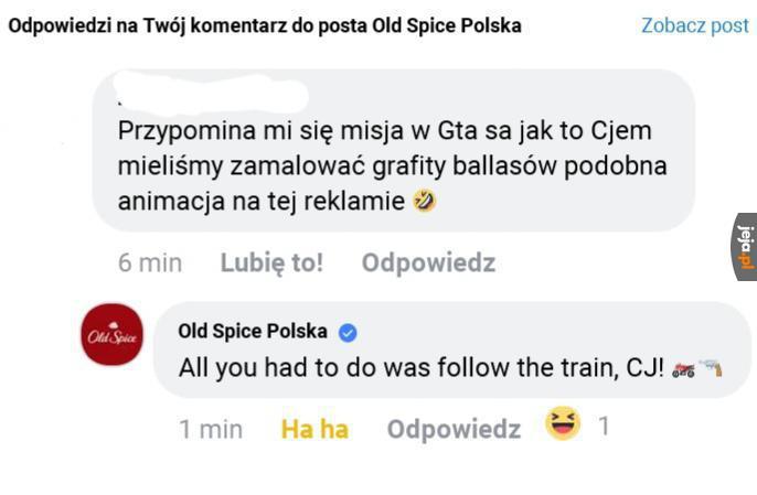 Old Spice umie w memy