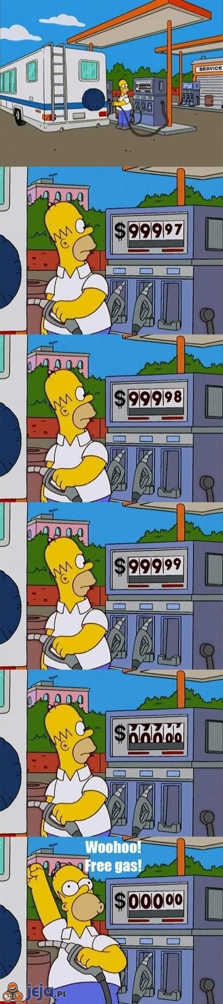 Tankowanie Simpsona