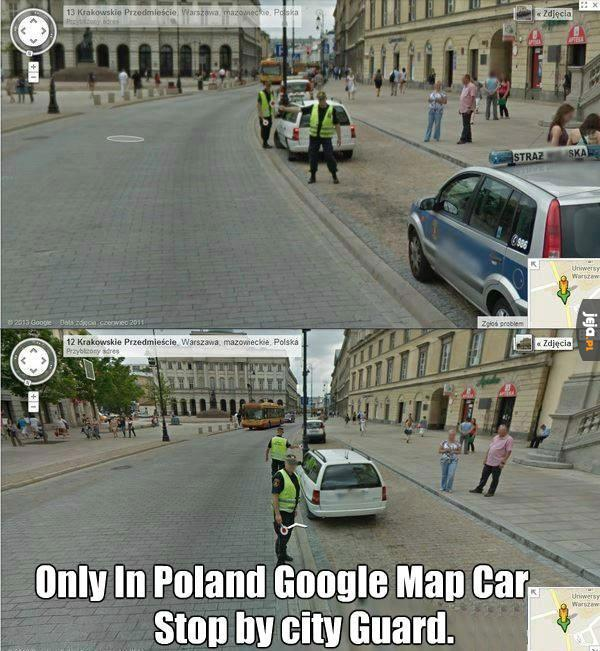 Google Map Car zatrzymany