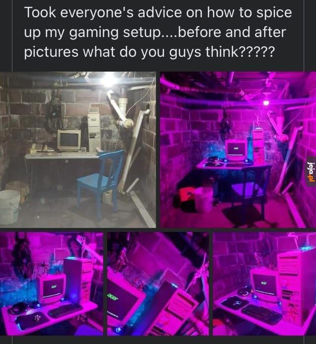 Piwniczak gaming setup
