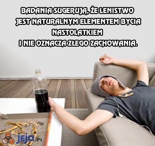Badania sugerują, że lenistwo...