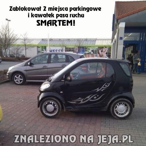 Zdolny kierowca smarta