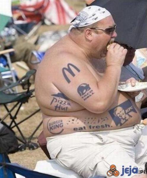 Chodząca reklama fast foodów