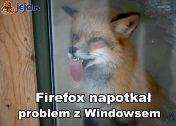 Firefox napotkał problem z Windowsem