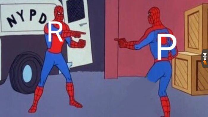 P to niepełnosprawne R